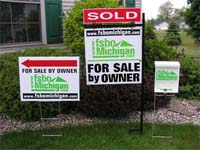FSBO Michigan yard signs.