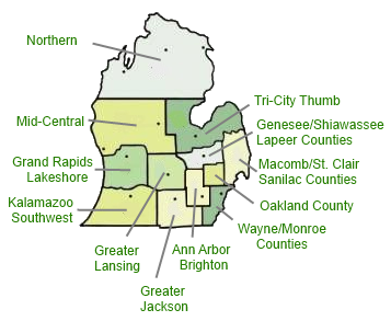 FSBO Michigan Service Area Reference Map
